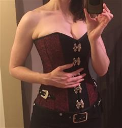 Anonymous verified customer review of Fotini Steampunk Overbust Corset with Shrug