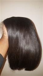 Adrianna Barnes verified customer review of Shela Hair Bob Wig Straight Full Lace Wig 8-16inches