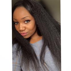 David Jancso verified customer review of Shela Hair Lace Front Wig Kinky Straight 170% Density Human Hair Wigs