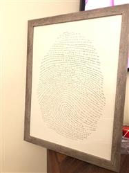 Jessica G. verified customer review of 18x24 God's Fingerprint Screenprint
