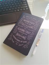 Catherine C. verified customer review of Worthy Journal - Navy Laser Etched Moleskine