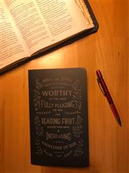 Lara H. verified customer review of Worthy Journal - Navy Laser Etched Moleskine