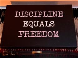 Steve M. verified customer review of Discipline Equals Freedom CANVAS