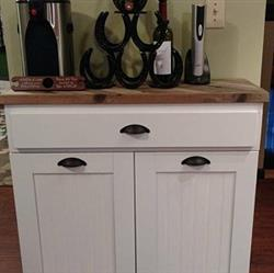 melissa verified customer review of tilt out double bin with a drawer white (D-DRAW-W)