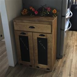 Heidi verified customer review of tilt out double bin with a drawer slim style (D-SLIM-DRAW-GO)