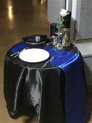 Rick R. verified customer review of 60x 60 Black Seamless Satin Square Tablecloth Overlay