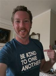 James H. verified customer review of ellen show be kind t-shirt- teal