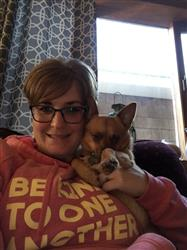 Jennifer C. verified customer review of Be kind hoodie - red