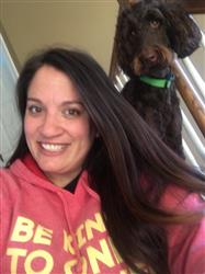 Summer A. verified customer review of Be kind hoodie - red