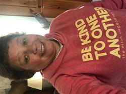 Tina M. verified customer review of Be kind hoodie - red