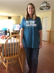 Debbie S. verified customer review of ellen show be kind t-Shirt-Teal