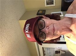 Marilyn O. verified customer review of ellen Show Be Kind Hat- Maroon