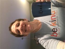 brian g. verified customer review of Be Kind T-shirt- Blue