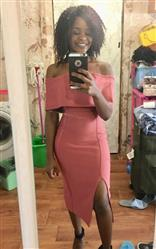 Agnes verified customer review of Miel Bandage Dress- Pink