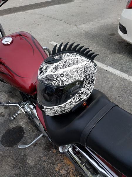 Zayne K. verified customer review of Motorcycle Helmet Mohawk