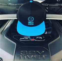 Mike H. verified customer review of That Dude In Blue - Smiles Per Gallon Snapback Hat