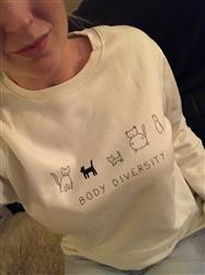Kirsten A. verified customer review of Body Diversity Unisex Sweatshirt