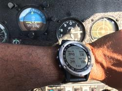Krishna B. verified customer review of Garmin D2 Delta Aviator Watch with Brown Leather Band (47MM Case)