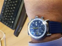 Alasdair B. verified customer review of AGL  Blue Dial Chrono Automatic