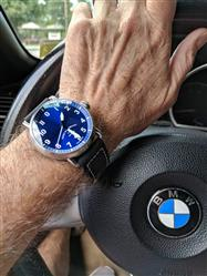 Donald A. verified customer review of AGL  Blue Dial  / Black Strap Automatic 3 Hands- Ferro & Co watches