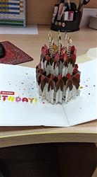 Niharika verified customer review of Handmade 3D Pop-up Strawberry Birthday Cake Greeting Card