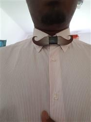 Fern Daugherty verified customer review of Moustache Wooden BowTie