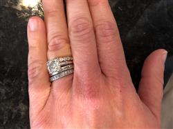Audrey S. verified customer review of ALIVIA Sterling Silver Hexagon Crystal Ring // 3 Sizes Available