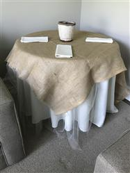Ann C. verified customer review of 120 Ivory Seamless Premium Polyester Round Tablecloth