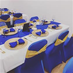 victoria l. verified customer review of 5 Pack 17x17 Royal Blue Polyester Linen Napkins