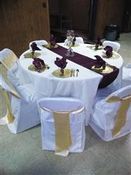 Robbin M. verified customer review of 5 Pack 20x 20 Burgundy Satin Linen Napkins