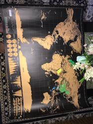 Novella Spencer verified customer review of Scratch Off World Map Poster
