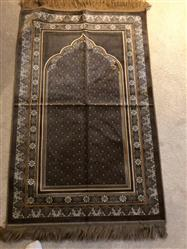 Anonymous verified customer review of Plush Velvet Prayer Rug Simple Floral Beige