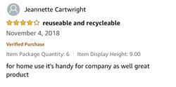 Jeannette Cartwright (Amazon Review) verified customer review of Natural Bamboo Straws: Assembled in Canada, Great for Parties