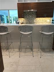 Bertoia Style Morph Wire Bar Stool