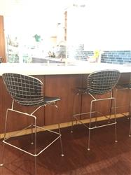 Bertoia Style Wire Counter Height Chair