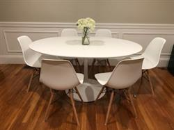 Dr. J. verified customer review of 60 Oval Wood Top Daisy Dining Table