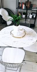 Aly Nguyen verified customer review of 36 Artificial Marble Daisy Dining Table