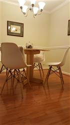 Kristine S. verified customer review of Set of 4 - Vortex Side Chairs with Natural Legs