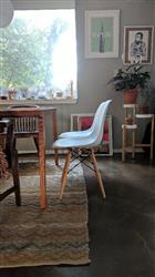 Set of 4 - Eames Style Vortex Side Chair with Natural Legs