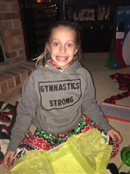 Anonymous verified customer review of Gymnastics Strong Kids Hoodie