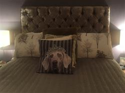 Mrs D. verified customer review of Chrystal Upholstered Floor Standing Headboard