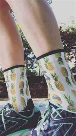 Lindsay H. verified customer review of Floral Socks (Mini-Crew)