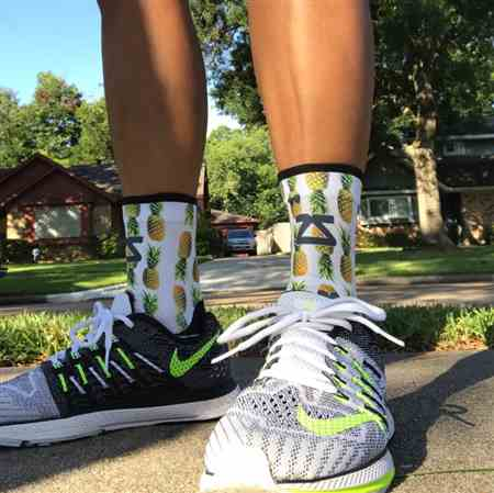 Nikki C. verified customer review of Abstract Waves Socks (Mini Crew)