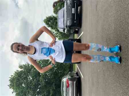 Katherine W. verified customer review of Watercolor Compression Leg Sleeves