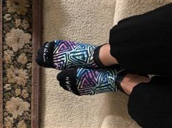 Susan D. verified customer review of Geo Maze Socks (No Show)