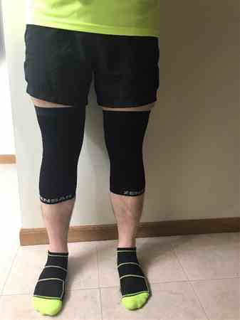 John F. verified customer review of Compression Knee Sleeve