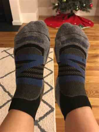 Maria J. verified customer review of Wool Running Socks