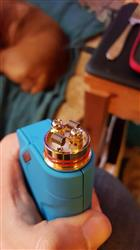 Mando verified customer review of dotmod 24mm Petri 24K Gold Plated Postless RTA