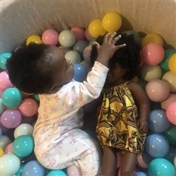 Emma-Ruth K. verified customer review of Black Dark Skinned Baby Doll in Ankara 'Aya'