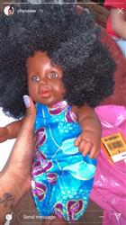 Chyna-Lee B. verified customer review of Black Dark Skinned Baby Doll in Ankara 'Little Madam'